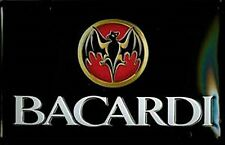 Bacardi Bat Logo embossed steel sign lscape  300mm x 200mm (hi)
