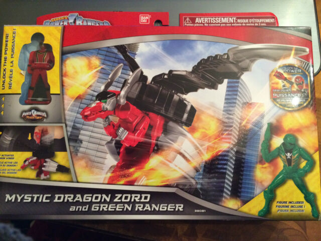 Power Rangers Super megaforce Mystic dragon zord MISB new RARE set with ranger