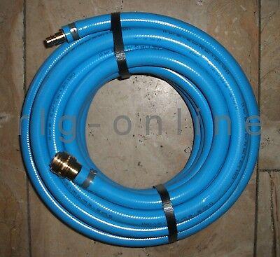Flexibler DRUCKLUFTSCHLAUCH 13mm L:8,5m Weich-Kunststoff-blau mit Anschlüssen