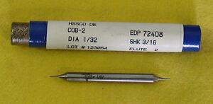 "Fastcut 1/32"" 2 Flute DE Cobalt  Endmill  End Mill #72408 COB-2 COB2 Made in USA"