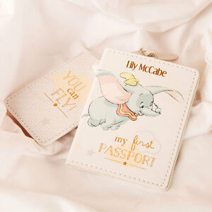 Disney passport holder personalised baby first luggage tag gift set image is loading disney passport holder personalised baby first luggage tag negle Image collections