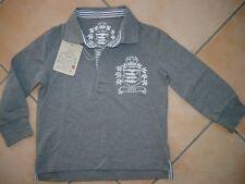 (183) Joe Black Boys Langarm Shirt dicke BW Polokragen & Wappen Stickerei gr.152