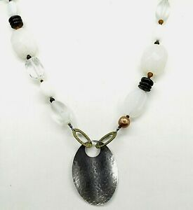 Silpada-Sterling-Silver-White-Jade-Pearl-MOP-Wood-Pendant-Necklace-N1899