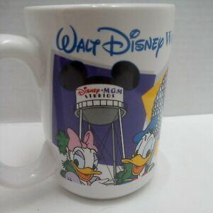 VTG-Disney-World-034-DAD-034-Coffee-Mug-Made-In-Thailand-Mickey-Minnie-Donald-Goofy
