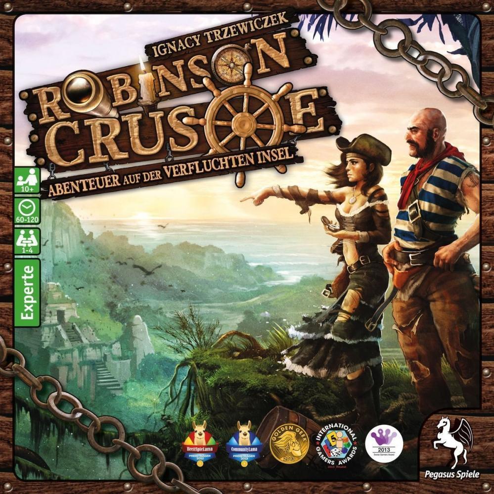 Pegasus Spiele 51945G - Robinson Crusoe Brettspiel Familienspiel Spiel ab 14 NEU