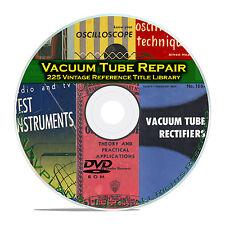 RCA Receiving Tubes, 225 Repair Manuals, Vintage Vacuum Tube Radio Books DVD B88