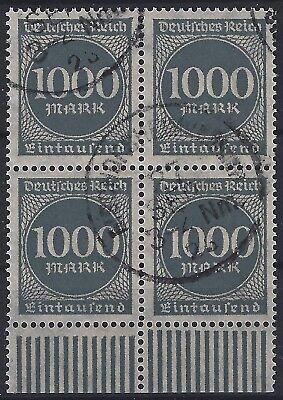 Deutschland Selbstlos Minr 273 Im Viererblock Vom Walzenunterrand Gestempelt In Bischofsheim 1919-1923