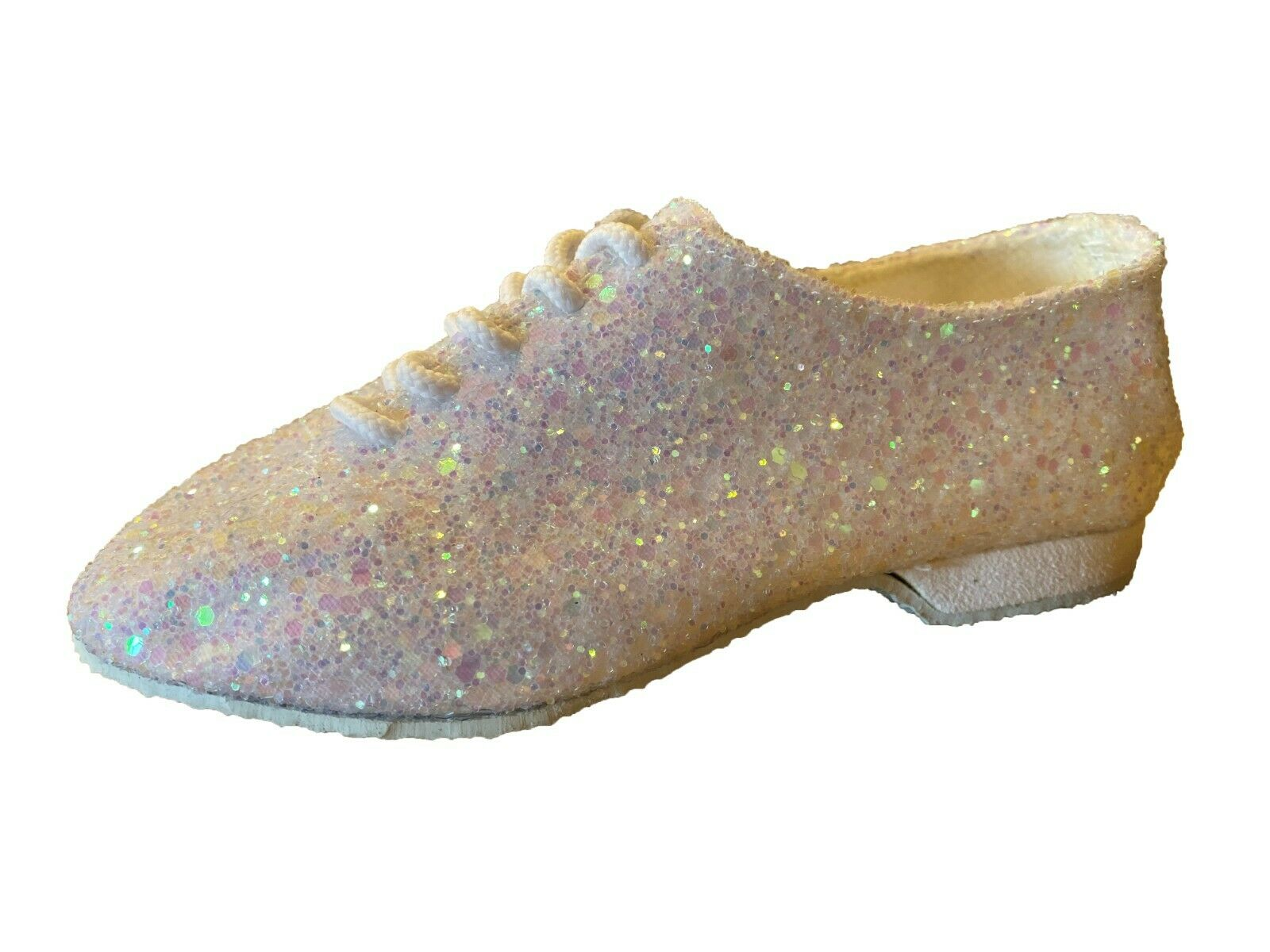Dance Depot Lilac Glitter Jazz Shoes, Rubber Sole, UK 11 childs, New