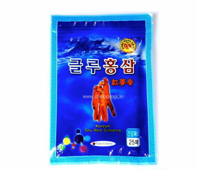 4 Packs 100 Pcs Korean Glu Red Ginseng Pain Relief Patches Saponin Plaster Pads