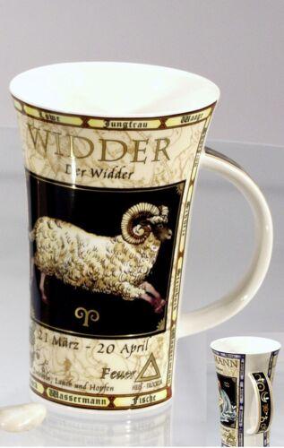Dunoon Becher Sternzeichen Widder Glencoe Porzellan 500 ml NEU