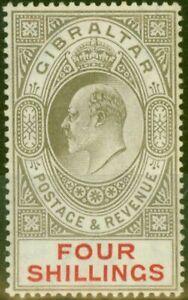 Gibraltar-1910-4s-Black-amp-Carmine-SG73-Fine-Very-Lightly-Mtd-Mint