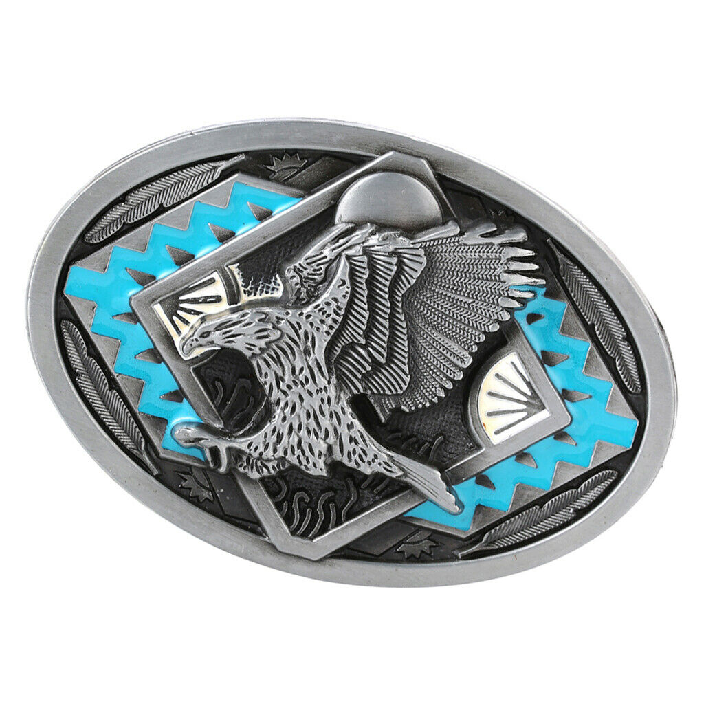 Eagle Pattern Belt Buckle Western Cowboy Cowgirl Indian Style Hiphop Hunting