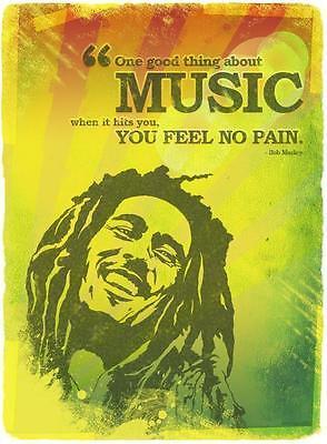 Bob Marley # 10 - 8 x 10 Tee Shirt Iron On Transfer One good thing