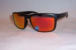 4d8b51143bb50 Image is loading Oakley-Holbrook-POLARIZED-Sunglasses-OO9102-51-Matte-Black-