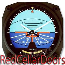 "New TRINTEC Artificial Horizon Wall Clock 6.5"" Aviator Airplane Instrument 6.5"""