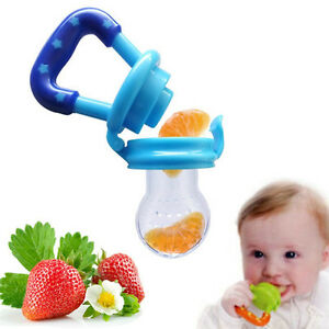 Baby Infant Food Fruits Soft Bite Nipple Feeder Silicone ...