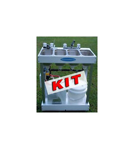 Concession sink kit with parts 3 compartment with hot for Kit da 3 bay