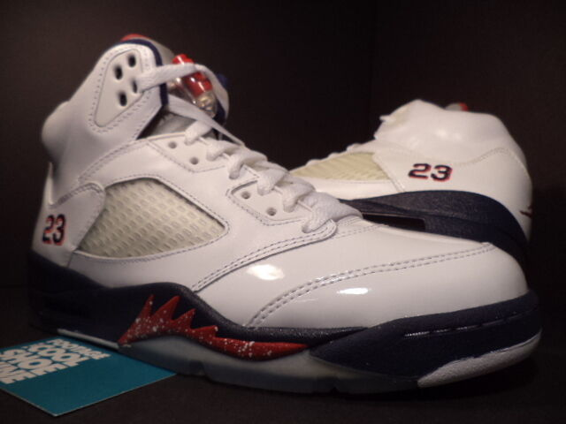 Nike Air Jordan Jordan Jordan V 5 Retro OLYMPIC INDEPENDENCE DAY WHITE blueE RED 136027-103 7 bc7356