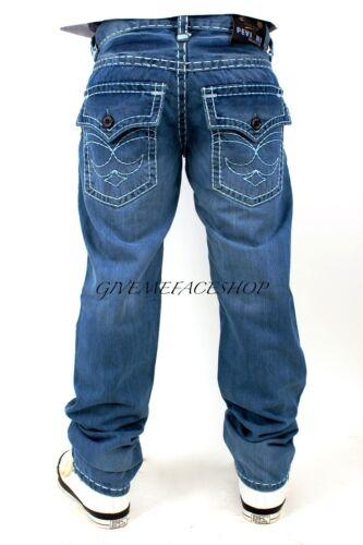 Peviani cierto Jeans Para Hombre chicos G Bar Denim Star tiempo es recto Dinero Hip Hop