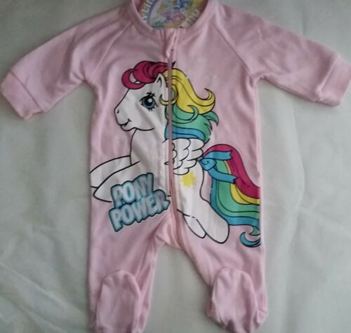 MY LITTLE PONY PONY POWER Licensed Girl coverall all-in-one pink NEW sizes 000-0