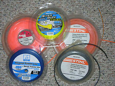 """Lot of 5 Trimmer Lines by STIHL, RINO-TUFF, PRIME LINE, .065"""",.095"""", .130"""""""
