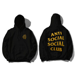 2fe8530ab64a Caricamento dell immagine in corso Anti-social-Social-Club-HOODIE-redeemed- HOODIE-oro-