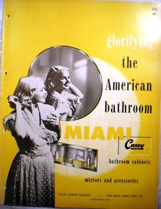Vtg MIAMI CAREY Bathroom Cabinets Vanity Mirrors ...