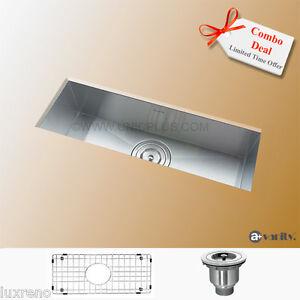 23-034-Under-mount-Stainless-Steel-Zero-Radius-Mini-Kitchen-Bar-Sink-KUS2385-Combo
