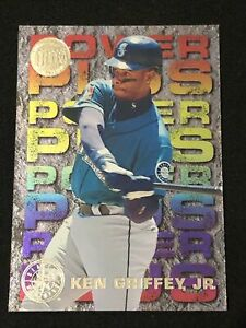 1995-Fleer-Ultra-Baseball-KEN-GRIFFEY-JR-POWER-PLUS-GOLD-MEDALLION-Mariners-HOF