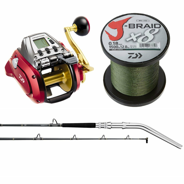 Save  400-Daiwa Seaborg 1200 MJ Electric Fishing Combo-6'6  Rod -Reel Rod Braid