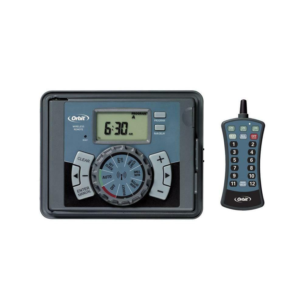 Orbit Irrigation Controller Timer Remote Control Battery Back-up Programmable