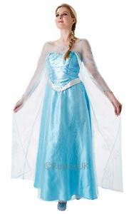 Image is loading Adult-Elsa-Frozen-Fancy-Dress-Costume-Size-12-  sc 1 st  eBay & Adult Elsa Frozen Fancy Dress Costume Size 12-14 883028042319 | eBay