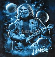 Lovely View Of Heaven--liquid Blue Jerry Garcia The Dead Space Tie-dyed T Shirt