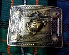 Men's US Marine Kilt Belt Buckle Antique Finish/Highland Kilt Belt Buckles US