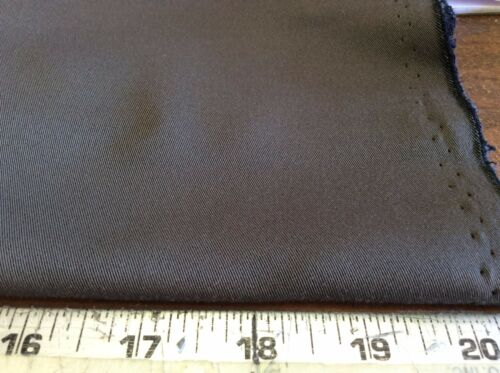 "BROWN POLY TWILL64"" WIDE 1 18 YARDS"