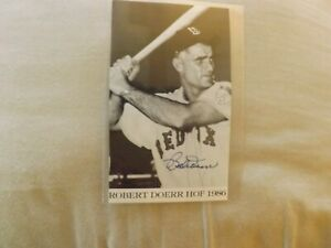 "Bobby Doerr HOFer 3 1/2"" x 6"" Autographed Photo"