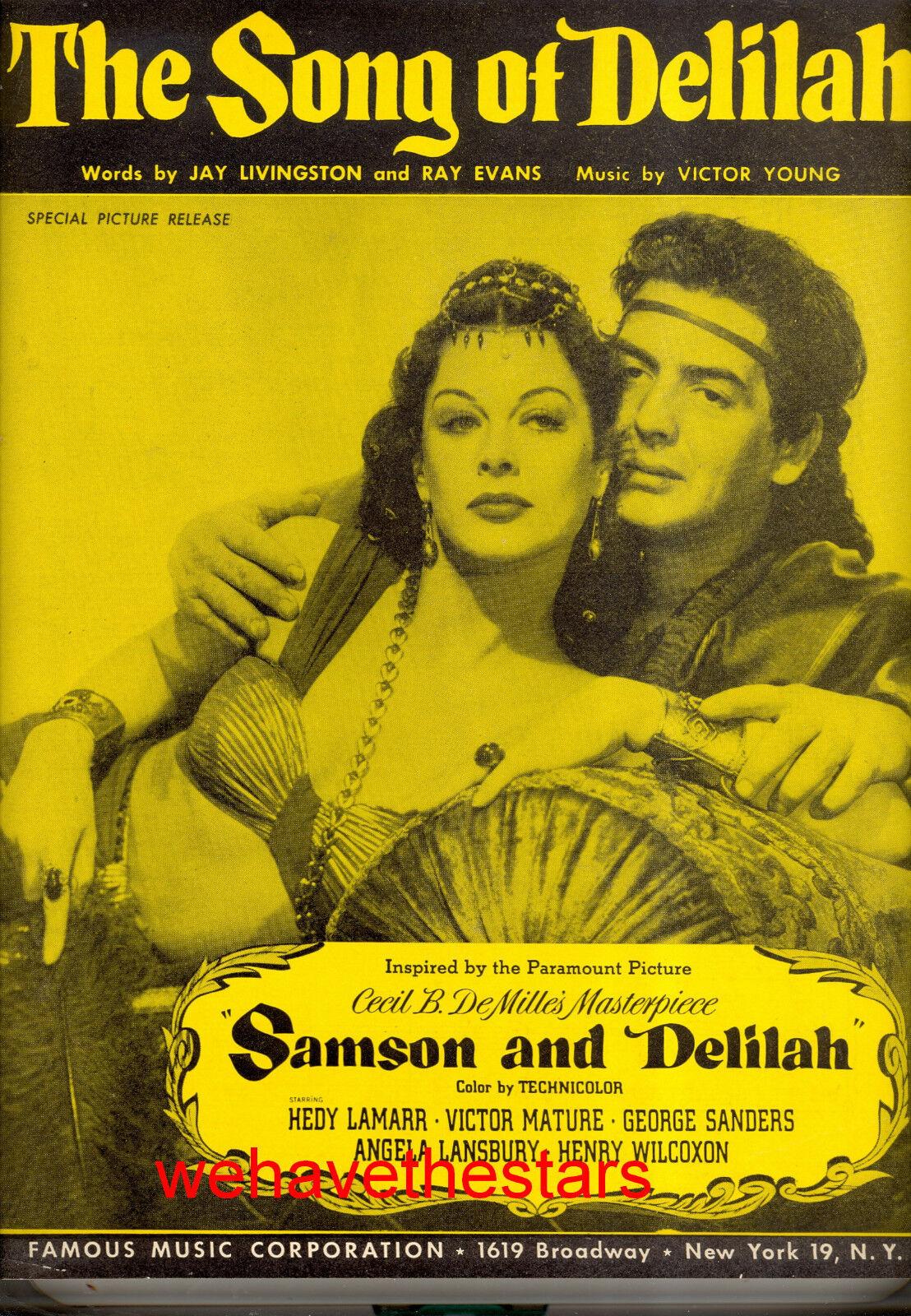 SAMSON & DELILAH Sheet Music