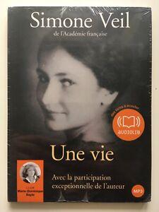 Simone-Veil-Une-vie-CD-MP3-Livre-audio-NEUF-SOUS-BLISTER