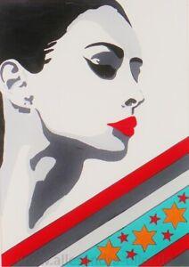 POP-ART-Allesandra-Tiller-Leinwandbild-Leinwanddruck-Keilrahmen