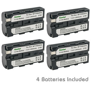 Kastar NP-F570 NPF570 Batería (4 paquetes) para Sony Serie L Batería Infolithium