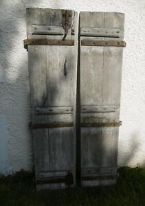 182 X 82 Cm - Paire D'anciens Volets De Fenêtre En Chêne 18ème Ferrures D'époque DéLicieux Dans Le GoûT
