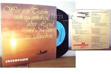 DDR Airline Flugzeug INTERFLUG Werbung Berlin Schallplatte Single east germany