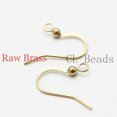 30 Pieces Raw Brass Earring Wire Earring Hooks 28x17mm CW-1894C-I-115X