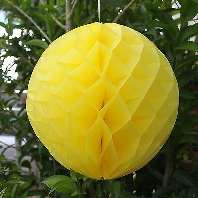 Tissue Paper Honeycomb Lantern Ball Pom Poms Wedding Party Baby Living Deco Home