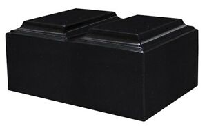Details about XL Companion Funeral Cremation Urn For Ashes Cultured Granite  Tuscany Black