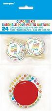 RAINBOW BIRTHDAY Party CUPCAKE KIT for 24 (Party/Decoration)