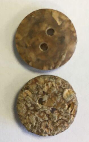 Los botones de poliéster con incrustaciones de corcho 15mm Paquete de 10