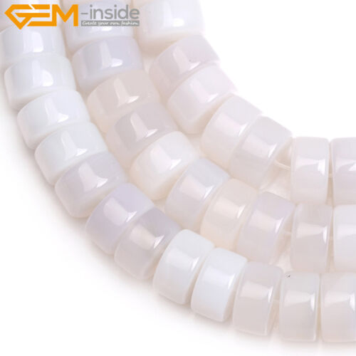 """Natural Rondelle Agate Loose Stone DIY Spacer Beads Jewelry Making Strand 15/"""""""