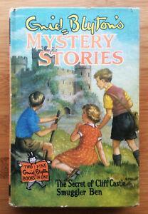 ENID BLYTON MYSTERY STORIES 2in1 VINTAGE HB SMUGGLER BEN SECRET OF CLIFF CASTLE