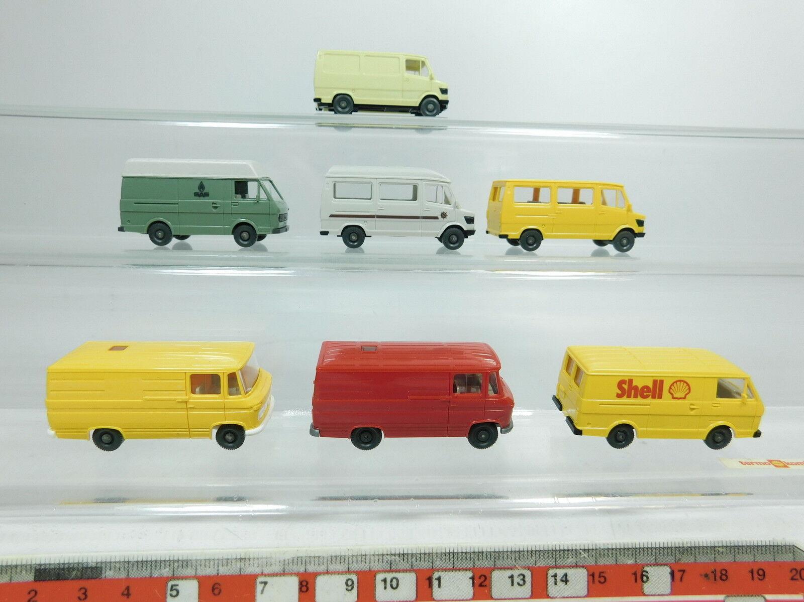 Bb284-0, 5    7x WIKING h0 1 87 Mercedes Mb + Volkswagen VW  268+ Shell + gaz etc, Neuw 3ac6bb